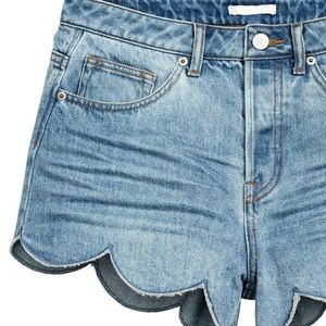 H&M Scalloped Denim Shorts
